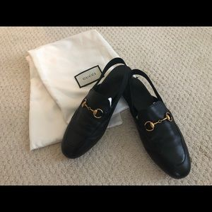 Gucci Leather Horsebit Slingback